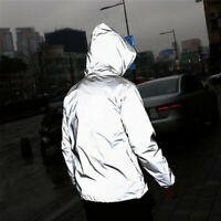 ns Waterproof Reflective Running Jacket Night Overcoat Outwear WindbreakerPLUS