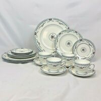 NEW 20 PIECE SET WEDGWOOD ROSEDALE DINNERWARE 4 FIVE PC PLACE SETTINGS FREE SHIP