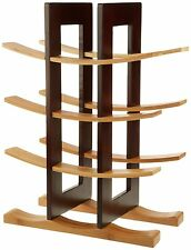 Anchor Home Collection Bamboo Wine Rack with Espresso Finish, New, Free Shipping