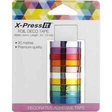 """X-PRESS IT FOIL DECO TAPE .4375""""X3 YDS 10/PKG-9323842012545"""