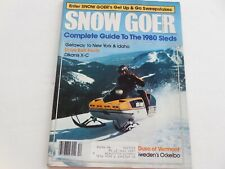 New ListingSnow Goer snowmobile magazine Nov. 1979 Buyers Guide 1980 sleds Ski-Doo brochure