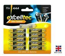 11pk Zinc Carbon AAA Batteries 1.5v Camera High Powered Battery Camera Remote UK