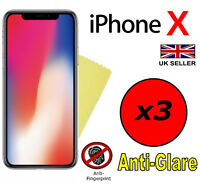 3x HQ ANTI GLARE MATTE SCREEN PROTECTOR COVER GUARD FILMS FOR APPLE IPHONE X