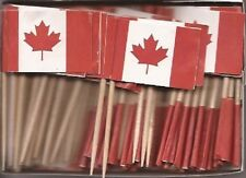 Lot Of 3 Boxes Canada Toothpick Flags, 100 Canadian flag toothpicks per box