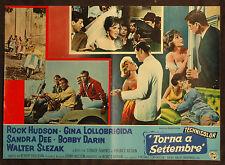 CINEMA-fotobusta TORNA A SETTEMBRE lollobrigida, hudson VESPA