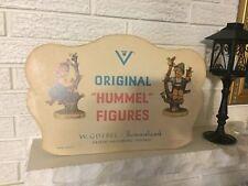 Rare VINTAGE HUMMEL FIGURES C1960 CARDBOARD STORE ADVERTISING SIGN