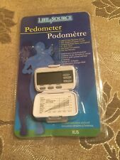Life Source Xl15 New Sealed Pedometer Steps Distance Calories Fitness Walking