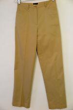 BURBERRY GOLF Camel Beige Cotton Blend Pants Size US 4