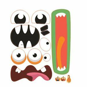 Event Party Halloween Decoration Decals Pumpkin Grimace Expression Stickers