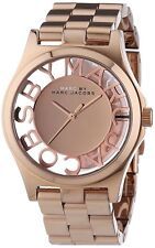 New Marc By Marc Jacobs Ladies Watch Henry Skeleton 40mm Rose Gold Tone MBM3207