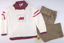 Nwt Good Lad Boy's 3 Pc Holiday Truck Sweater, Shirt & Cords Outfit Set, 5, $46