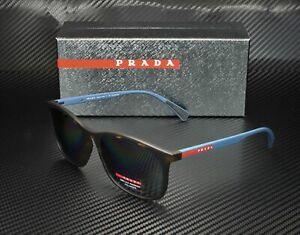 PRADA LINEA ROSSA PS 01TSF U61144 Havana Polarized Grey 57 mm Men's Sunglasses