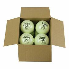 Body Earth Bath Bombs 8 X 3.5 Oz Natural Essential Oils Coconut Lime Handmade