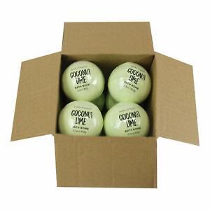 Body  Earth Bath Bombs 8 X 3.5 Oz Natural Essential Oils Coconut Lime Handmade