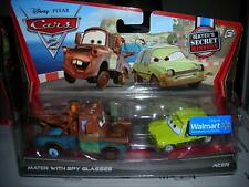 DISNEY PIXAR CARS MATER WITH SPY GLASSES & ACER SECRET MISSION *NEW*