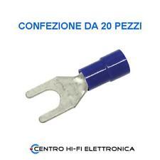 Capicorda a forcella M5 con isolatore blu confezione da 20 pezzi