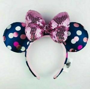 Disney Parks Mickey Minnie Mouse Polka Dot Ears Headband new