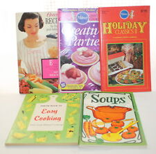 Vintage Lot of 5 Recipe Books Osterizer Soups Pillsbury Cook Book Recipes