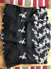 Ladies Next Corset Top, Black With Flowers, Size 12.