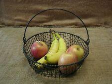 Vintage Metal Wire Basket > Antique Old Bucket Shabby