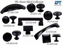 Knob Handle Pulls Collection in Matte Black Kitchen/Bath Cabinet Hardware by KPT