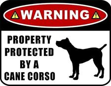 Warning Property Protected by a Cane Corso (Silhouette) Laminated Dog Sign