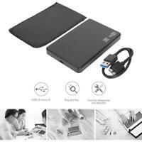 2,5 Zoll USB 3.0 Micro B zu SATA Externes 6 Gbit/s SSD Festplattengehäuse