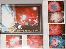 GUINEA 1989 1249-54 Block 326 B38-44 Astronomers Space Halley´s Comet Komet MNH