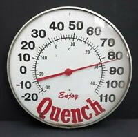 "Enjoy Quench The Original Jumbo Dial By The Ohio Thermometer Company 12"" Rare"