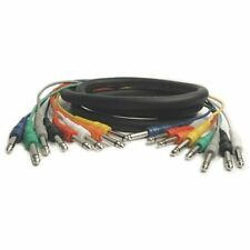 """HOSA CPP-801 1/4"""" PHONE - 1/4""""PHONE, 1m (3.3 ft.) x 8 MULTI-TRACK SNAKE CABLES"""