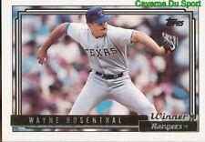 584 WAYNE ROSENTHAL P RANGERS NEW YORK TOPPS GOLD WINNER BASEBALL CARD 1992