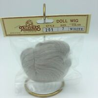 Tallinas Doll Wig Vintage New Old Stock Style 201 Size 7 White Hair
