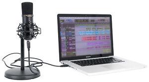 Rockville Solo-Cast 24 bit 192Khz USB Microphone Mic w/Recording Interface+Stand