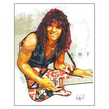 """Eddie Van Halen #2 Evh 5150 1984 Guitar 11x14"""" Music Art Print Poster"""