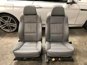 08 09 10 BMW E60 528I 535i 550i FRONT 20-WAY COMFORT SEATS GREY LEATHER PAIR