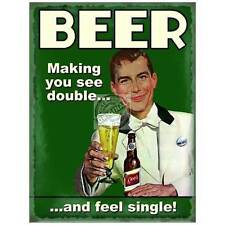 Beer Making You See Double, Funny, Vintage Retro Gift, Novelty Fridge Magnet