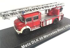 Metz DLK 30 Mercedes Benz L 1519 Camión bomberos fire truck 1/72 ATLAS Diecast