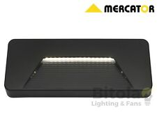 MERCATOR JUSTIN 3w LED RECTANGLE WALL/STEP LIGHT INDOOR/OUTDOOR BLACK MX1111
