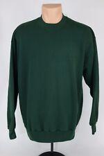 Vintage Jerzees Mens XL Plain Green Blank Crewneck Sweatshirt Made in USA