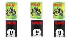 6 Boxes Band-Aids Mickey Mouse & Ninja Turtles 120 Assorted Sizes NEW