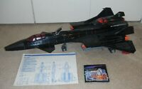 Lot 1986 GI Joe Cobra Night Raven S3P Jet Plane w/ Blueprint *99% Complete READ