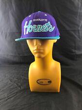 half off 587bc ca7d3 Mitchell   Ness NBA Charlotte Hornets Snapback Hat Cap KG Z4