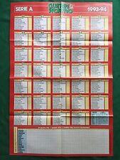 (FM12) CALENDARIO CAMPIONATO CALCIO 1993/1994 A B Poster 80x55 Guerin Sportivo