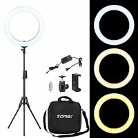 ZOMEI 18 inch LED Ring Light with Stand Dimmable Lighting Photography  YouTube