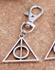 Harry Potter Deathly Hallows Keychain Key Ring Silver 4cm US Seller