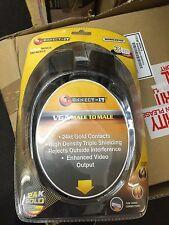 3 Metros Cable Vga Pc Para Computadora Laptop A Tv Led Plasma Lcd Pantalla Chapado en Oro