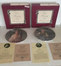 The Beauty Of Bouguereau Collector's Plate: Lucie & Madelaine- Box, COA Lot Of 2
