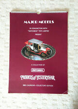 Major Models Matchbox Models of Yesteryear 1985 Calendar