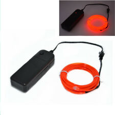 Red 3M Flexible LED Neon Light Glow EL Strip Tube Wire Rope Battery Cool Light