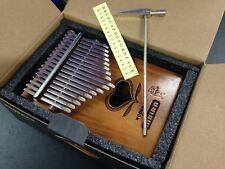 Woodman 1314 Solid Wood Kalimba MBIRA Thumb Piano,17 Keys,3 Sound Holes+Soft Bag